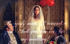 Never be late for a wedding, partially Rory and Amy's. Bbc Doctor Who, 10th Doctor, Rory And Amy, Alex Kingston, Doctor Who Quotes, Nerd Herd, Rory Williams, Amy Pond, Don't Blink