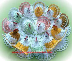 Muestras de gallinas tejidas crochet