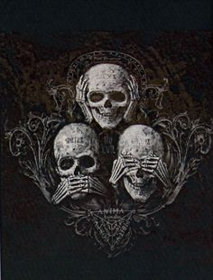 ae9cd0576 dark-recesses-of-the-soul: ☽ dark, horror, eerie, macabre ☾ See no  evil.speak no evil…hear no evil…