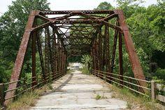 old bridge / Saluda river /Greenville SC by aswike66~Scott, via Flickr
