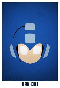 Amazing Minimalist Superhero Posters - Megaman