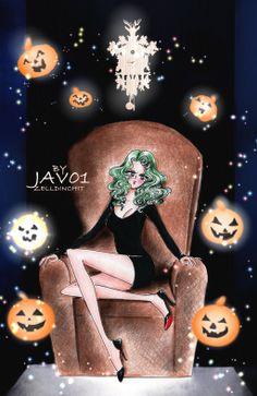 pretty guardian sailor moon bishoujo senshi sailor moon special halloween Michiru Kaioh - the witching hour (HALLOWEEN EVE) Sailor Moon Fan Art, Sailor Neptune, Sailor Uranus, Sailor Moon Crystal, Sailor Moon Halloween, Manga Anime, Halloween Eve, Fanart, Moon Dust