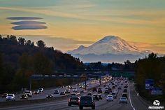 Beautiful Mt. Rainier at Sunset.