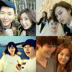 Some of Super Junior members with their sisters