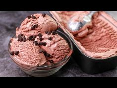 Homemade Chocolate Ice Cream With 3 Ingredients Homemade Chocolate Ice Cream, Party Desserts, Recipe Today, 3 Ingredients, Whipped Cream, Make It Yourself, Recipes, Youtube, Icecream
