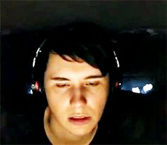HIS FACE HAHAHA that's what you get for playing spooky games for Spooky week by yourself when Phil is gone British Youtubers, Best Youtubers, Yolo, Oki Doki, Phan Is Real, Daniel James Howell, Dan And Phill, Dan Howell Funny, Dan Howell Memes