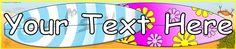 Editable surfing/surfboards display banner (SB8926) - SparkleBox