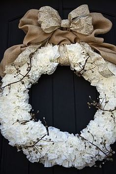 In Love- coffee filter wreath.saw same idea used for a hanging pom pom for a party.love the idea! In Love- coffee filter wreath.saw same idea used for a hanging pom pom for a party.love the idea! Coffee Filter Wreath, Coffee Filter Crafts, Coffee Filter Flowers, Fall Crafts, Diy Crafts, Christmas Crafts, Christmas Decorations, Diy Wreath, White Wreath