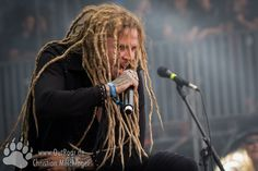 Jonne on stage at Summer Breeze 2016