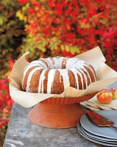 Apple-Walnut Bundt Cake
