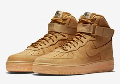 """Updated on September 19th, 2017: The Nike Air Force 1 High """"Flax"""" releases on October 14th, 2017 for $140. Nike appears to be planting more """"Wheat"""" sneakers than ever this fall, as today we learn yet another Flax colorway will … Continue reading →"""