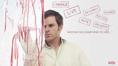- Dexter, as you probably know, is a blood splatter analyst who moonlights as a serial killer. The critically-acclaimed 'Dexter' TV show is based on . Dexter Morgan, Best Tv Shows, Favorite Tv Shows, Movies And Tv Shows, Favorite Things, Norman Bates, Hannibal Lecter, Orange Is The New Black, Dexter Wallpaper