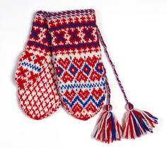 Sami mittens Fingerless Mittens, Knit Mittens, Mitten Gloves, Wrist Warmers, Hand Warmers, Mittens Pattern, Fair Isle Knitting, Color Shapes, Knitting Accessories