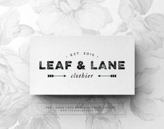 Leaf & Lane - Premade Logo Design - Vintage and Modern - Customized Logo - Small Business, Event, Wedding Logo