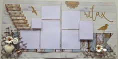 """Items similar to 12 x 12 double-page scrapbook layout kit - """"Silent Night"""" on Etsy Scrapbook Pages, Scrapbooking Kit, Scrapbook Layouts, Silent Night, Christmas Photos, My Etsy Shop, Relax, Paper Crafts, Gift Wrapping"""