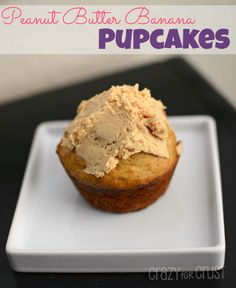 Peanut butter PUPcakes - for the furry friends in your life! So cute from crazy for crust