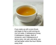 If you wake up with a sore thoart.