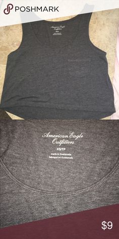 Grey tank barely worn American Eagle Outfitters Tops Tank Tops