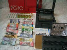 Print Gocco PG-10 w/ 5 Master 10 Lamp 20 ink B6 Screen Printer kit post card #16 | eBay
