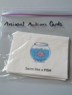 Exercise/Action Cards.  Here are some great task card ideas to use in a gross motor center.  Also work on following directions and sensory needs.  Go to:  http://pinningwithpurpose.blogspot.com/2013/04/kid-exerciseaction-cards.html