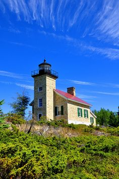 The lighthouse in Copper Harbor, MI.