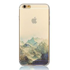 iPhone 6 Case, DECO FAIRY® Protective Case Bumper[Scratch-Resistant] [Perfect Fit] Ultra Slim Translucent Silicone Clear Case Gel Cover for Apple iPhone 6 (The Alps)