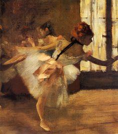 1877 - La Répétition de Danse, détail. Edgar Degas.