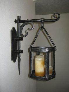 Blacksmith Forged Iron decorative candle sconce