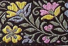 Jacquard, Ribbon Trim. Wild Flowers Flower Crafts, Wild Flowers, Embellishments, Ribbon, Sewing, Tape, Ornaments, Treadmills, Couture