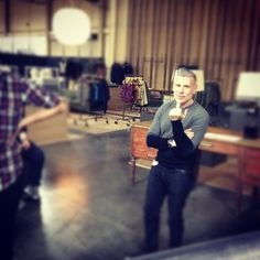 marcustroyexperience:    Nick Wooster setting up #projectwooster (Taken with instagram)