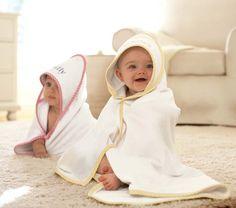 Gingham Hooded Towel | Pottery Barn Kids