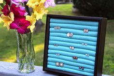 Make Grow Do : DIY Stud Earring Holder & Gladiolus Faux Pas