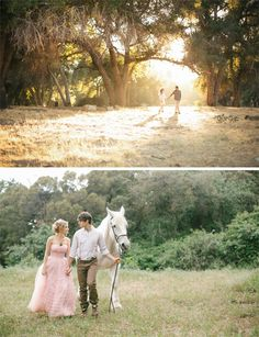 Fairytale Wedding Photography--seriously, a WHITE HORSE? How can you beat that?