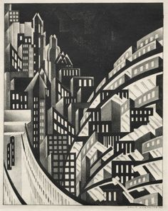 Louis Lozowick, New York, 1923. Lithograph. USA. © Courtesy of the Estate of Louis Lozowick and Mary Ryan Gallery, NY. Via Cleveland Museum of Art