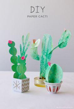 DIY paper cacti