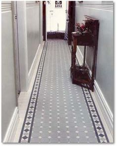 Octagonal Victorian hall tiles from www.tilesonline.eu
