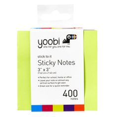 Sticky notes have so many uses- and they keep you organized!