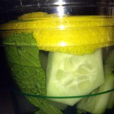 Lemon mint cucumber water. So yummy!!!!!