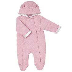 Buy John Lewis & Partners Baby Quilted Pramsuit, Pink from our Baby & Toddler Snowsuits & Pramsuits range at John Lewis & Partners. John Lewis Baby, Buy Buy Baby, Snow Suit, Things To Buy, Baby Quilts, Rompers, Cotton, Pink, How To Wear