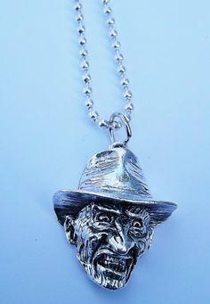 Nightmare on Elm Street Freddy Krueger necklace by zantijewelry