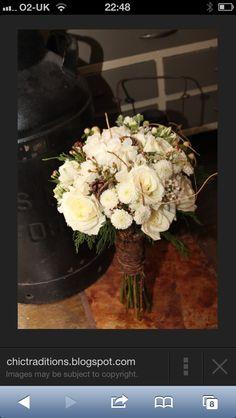 Wedding flowers with twigs