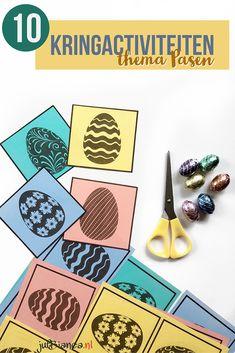 10 Kringactiviteiten in het thema Pasen - Juf Bianca Montessori, Easter, School, Creative, Crowns, Crafts For Children, Catapult, Easy Meals