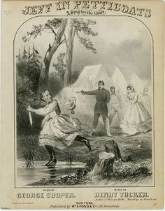 """In today's blog post, we explore Civil War music, such as this """"Jeff in Petticoats"""" sheet music"""