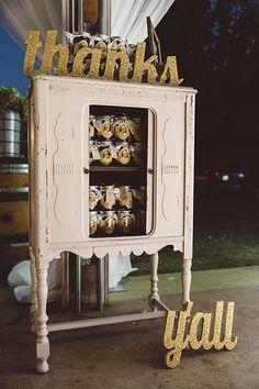 Rustic Romantic in Virginia's Blue Ridge Mountains, Apple Butter Favor Jars | Brides.com