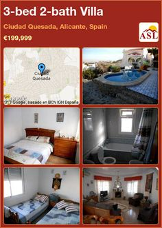 3-bed 2-bath Villa in Ciudad Quesada, Alicante, Spain ►€199,999 #PropertyForSaleInSpain