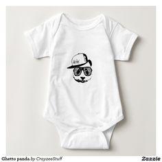 Ghetto panda baby bodysuit