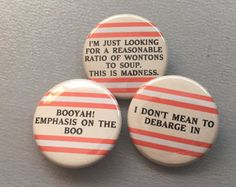 Ghostbusters Inspired Quotes Button or Magnet by Kiru on Etsy