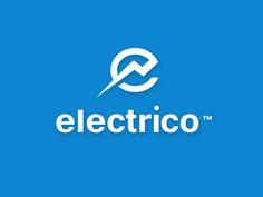 Electrico designed by Mike Erickson. Logo Branding, Branding Design, Logo Design, Car Logos, Tech Logos, Electricity Logo, Chinese Fonts Design, Power Logo, 10 Logo