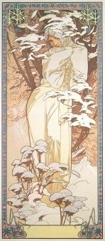 Alphonse Maria Mucha - The Seasons: Winter  #Alphonse #Winter #paintings Replica for your home can be purchased at:  www.allposters.com