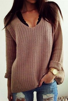 Love this chunky sweater!